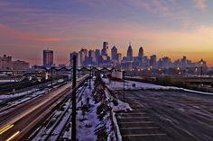 Winter in Philadelphia.