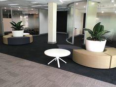neutral palette reception area Custom Desk, Office Furniture Design, Commercial Furniture, Neutral Palette, Reception Areas, Furniture Making, Chair, Table, Projects