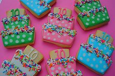 Happy Birthday!! by cookie cutter creations (jennifer), via Flickr---Such a smart use of a wedding cake cookie cutter!