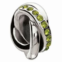Currents Gifts and Jewelry - Chamilia's Verde Swarovski Regale Charm, $30.00 (http://www.currentsgifts.com/chamilias-verde-swarovski-regale-charm/) #CurrentsGifts #Chamilia #Holidaygifts
