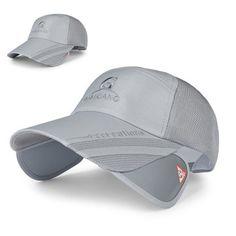 Men Women Polyester Mesh Wide Brim Baseball Cap Adjustable Breathable Outdoor Hat