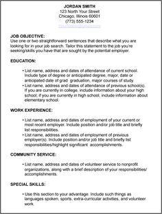 for job search resume writing interview