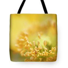 "Delicate yellow poppy Tote Bag 18"" x 18"""
