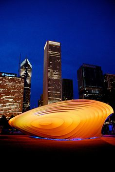 Burnham Pavilion by Zaha Hadid, Chicago - i lived here for a very short and very sad time.  i don't want to go back, but this image makes me reconsider that nutty pledge.