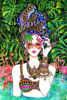 Jewelry, Accessory, Flamingo, Summer, Summer Mood, Sunglasses, Sunnies