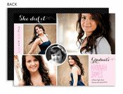 She Did It Graduation Collage Photo Graduation Announcement