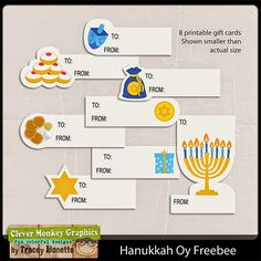 Free Printable Hanukkah Gift Tags   Clever Monkey Graphics
