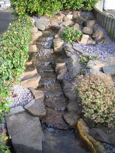 PRE-FORMED WATERFALL WATER FEATURE, The Rapids , garden stream / cascade