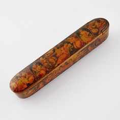 Buy online, view images and see past prices for Qajar Polychromed and Lacquered Papier Maché Qalamdan (Pen Box), Persia, century, length Pen Case, Persian, 19th Century, Mirrors, Auction, Antiques, Box, Stuff To Buy, Decor