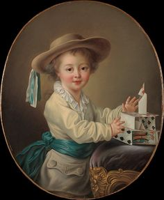 François Hubert Drouais (French, 1727–1775). Boy with a House of Cards. The Metropolitan Museum of Art, New York. Gift of Mrs. William M. Haupt, from the collection of Mrs. James B. Haggin, 1965 (65.242.1)   Since the seventeenth century, old playing cards and incomplete sets had been given to children for their amusement. #metkids