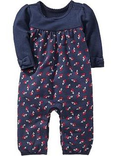 Floral Terry-Fleece One-Pieces for Baby