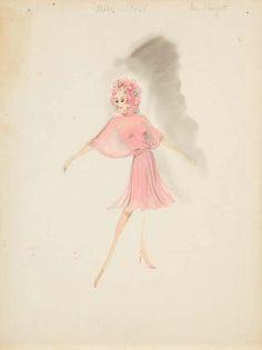 Helen Rose costume sketch for Ann-Margret from Made in Paris - Modern Barbie Fashion Sketches, Fashion Illustration Sketches, Illustration Art, Fashion Drawings, Fashion Art, Rose Costume, Famous Wedding Dresses, Helen Rose, Best Costume Design