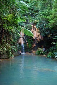Caldeira Velha hot springs, São Miguel Island, Azores Portugal