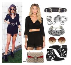 """Coachella día 1: Eleanor Calder"" by totheedgeofparadiise ❤ liked on Polyvore featuring L*Space, Oliver Peoples, Toga, ASOS and Gucci"