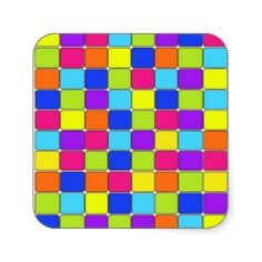 Pretty Colorful Mosaic Tile Pattern Gifts for Her Sticker