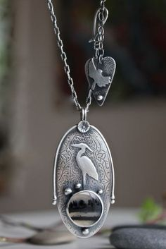 Reserved Listing for S... Heron Love by gallerydarrow on Etsy