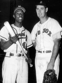 Hank Aaron & Ted Williams