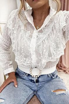 Oh Hello Clothing, Cream White, Lace Detail, Vest, Blouse, Sleeves, Model, Color, Clothes