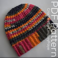 The Not Knit Beanie, crochet pattern by Lindsey Faye for sale on Ravelry