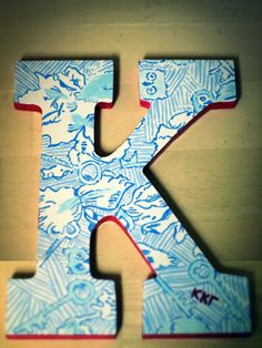 Kappa Kappa Gamma Lilly Pulitzer Print Letter