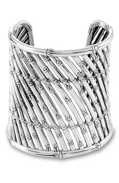 Silver Bamboo Cuff by John Hardy
