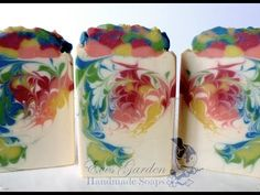 Rainbow Soap Sculpted Layers - Cold Process Homemade Landscape Soap - YouTube