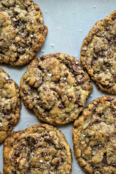 Sea Salt Toffee Chocolate Chip Cookies