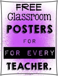 Have you ever had one of THOSE years?  I'm sure you know what I mean... the kind of year that makes you a little crazy?  When you spend half your time on character education?  These free classroom posters are for you.  Print them in colorful paint spatter, or in plain black and white.