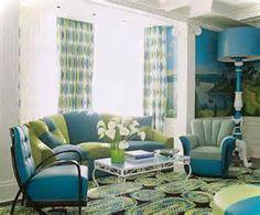 Navy Blue Sofa Lime Green Drapes