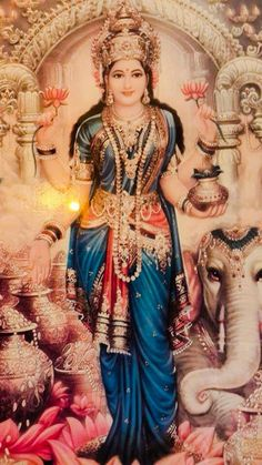 """HINDUISMO - 43. Da série: Manifestações da Shakti - Assim, ela (Laksmi), """"é Sita, companheira de Rama, e Rukmini, esposa de Krishna. Com o nome de Mahalakshmi, ela é identificada à Shakti, ou Grande Deusa. Dois de seus aspectos são Bhudevi (a Deusa da Terra) e Shridevi (a Deusa luminosa), que são os aspectos complementares das forças da Natureza (Prakriti)."""" (Fonte: Roberto de A. Martins, para o site Shri Yoga Devi.) -"""