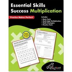 Take a look at this Essential Skills Success: Multiplication Workbook today! Math Skills, Writing Skills, Text To Text Connections, Nouns And Pronouns, What Is Reading, Multiplication Practice, Creative Teaching Press, Math Workbook, Reading Comprehension Skills