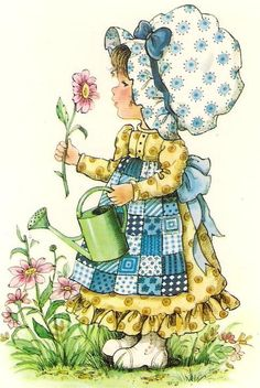 Prairie girl by Sarah Kay Holly Hobbie, Cute Images, Cute Pictures, Mary May, Decoupage, Retro, Hobbies For Women, Hobby Horse, Cute Illustration