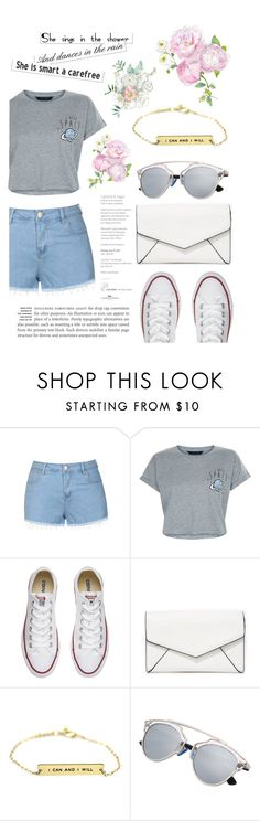 """""""under $150"""" by lialicious on Polyvore featuring Ally Fashion, New Look, Converse and LULUS"""