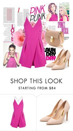 """""""Spring"""" by fashion-783 ❤ liked on Polyvore featuring Topshop, Rupert Sanderson and Chloé"""