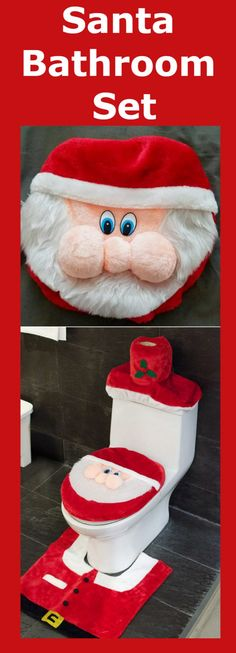 3D Nose Santa Toilet Seat Cover and Rug Set is the perfect Christmas gift! Imagine walking into the toilet and be greeted with a cute Santa Claus! So cute!