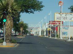 Route 66 as Central Avenue through Albuquerque