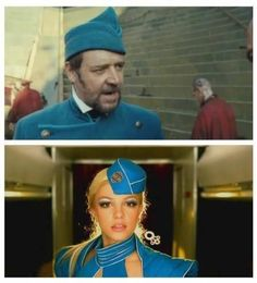 Who wore it better?   Russell in Les Mis vs. Britney