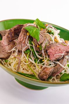 Chris Kimball's Ginger Beef with Rice Noodles and Herbs Salad