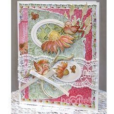 Happiness Always Handmade Card - Beautiful blossoms and delightful song bird embellishments created with coordinating stamp and dies from Heartfelt Creations, paired with elegant lace and pretty patterned paper create a gorgeous handmade greeting card! Follow through link for full instructions and supply list! #HeartfeltCreations #papercraft #cardmaking #diy #scrapbooking #crafting #cardsample #thinkingofyou #rubberstamping #craftsupplies #rubberstamps #metaldies #uniquehandmadecard #bird