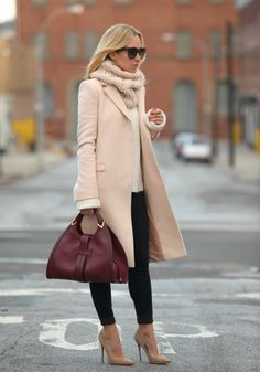 Blush Coat + Turtleneck - Brooklyn Blonde