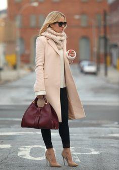 Blush Coat + Turtleneck - Brooklyn Blonde