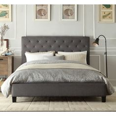 Active Leisure Design Italian New Chester Fabric Linen Wooden Bed Frame