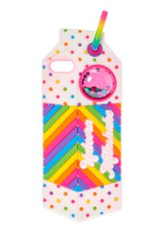 Forget about a unicorn frappuccino's, unicorn milkshakes are as magical as it gets. Nestle your phone into this unicorn milkshake carton phone case decorated in bright polka dots and stripes. Get mesmerized by the glitter shaker window at the top of this case.