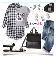 """""""Newchic"""" by mahafromkailash ❤ liked on Polyvore featuring Bridget Wheatley Jewellery, Wrap, Christian Louboutin, McQ by Alexander McQueen, chic and newchic"""