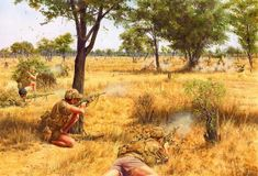 Rhodesian Security Forces engaged in a fire fight with rebels during the bitter Bush War . by Steve Noon Military Life, Military Art, Military History, Military Uniforms, All Nature, Special Forces, Cold War, World War Ii, Wallpaper