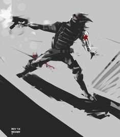 "Winter Soilder (James Buchanan ""Bucky"" Barnes) is a fictional character, a… Marvel Anime, Marvel Fan Art, Marvel Comic Universe, Marvel Dc Comics, Marvel Cinematic Universe, Comics Universe, Soldier Love, Super Soldier, Female Soldier"