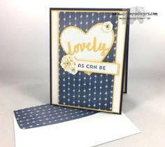 Stamps-N-Lingers.  Sneak Peek of the Lovely Inside & Out bundle and the Lovely Friends bundles.  Both available 1 June!  For free instructions on how to make this card, please visit my blog at: https://stampsnlingers.com/2017/05/16/stampin-up-lovely-inside-and-out-daisy/