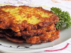 Recept Bramboráky s ovesnými vločkami. Potato Dishes, Main Meals, Lasagna, Pancakes, French Toast, Pork, Food And Drink, Cooking Recipes, Sweets