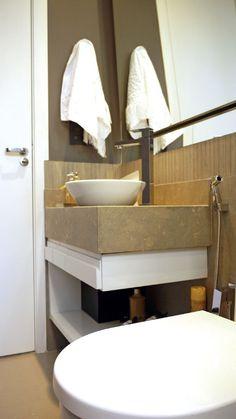 Banheiro pequeno e bem decorado - Revista Casa Linda
