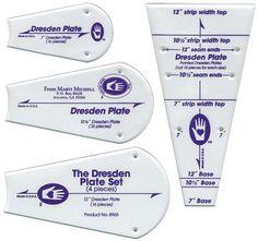 Perfect Patchwork Template-Dresden Plate 4/Pkg